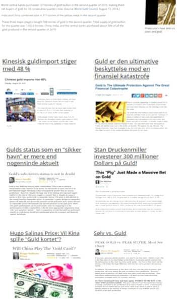 læs artikler om guldmarkedet og guldpriser