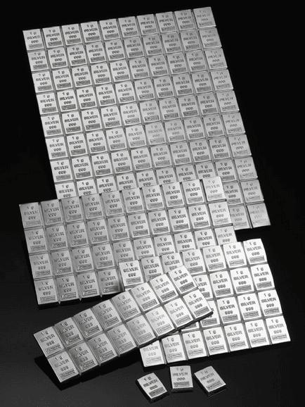 investering i sølv og sølvbarrer sølv combi bar 100 x 1 gr. finsølv invester i sølv og gør en sikker investering i sølv