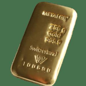 250 gr. guldbarre metalor - Køb guldbarre og guld til bedste guldpriser