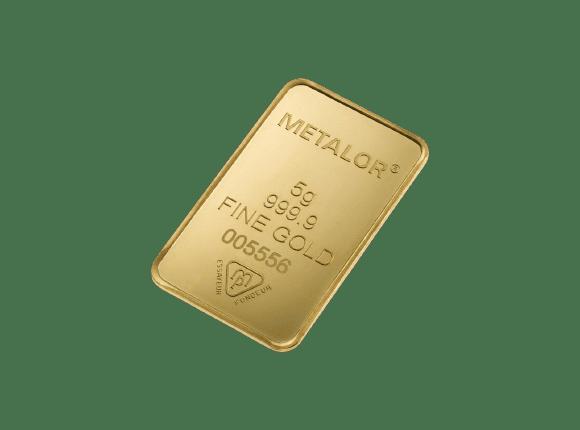 5 gr metalor guldbarre