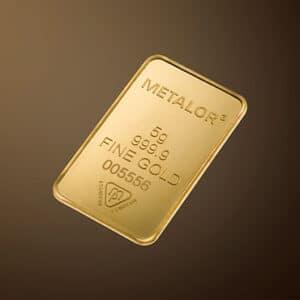 Vitus guld 20 gram guldbar fra Metalor 24 karat