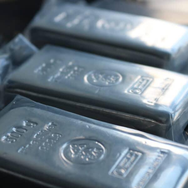 500 gr. Sølvbar 999,9 ‰, Heimerle+Meule