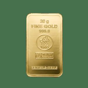 20 gr. Guldbarre fra Heimerle Meule - Køb guld og guldbarrer hos Vitus Guld til bedste guldpris