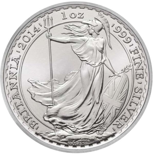Vitus Guld webhop investerings sølvmønt Britannia 1 Oz finsølv Bullion mønt spændende mønt til møntsamling gave idé gaveønske opsaring lavrisiko økonomisk spredning af aktiv smuk Britisk sølvmønt Professionel og sikker handel