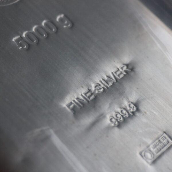 5000 gr. Sølvbarre 999,9 ‰, Heimerle Meule - Køb din sølvbarre som investering i dag hos Vitus Guld
