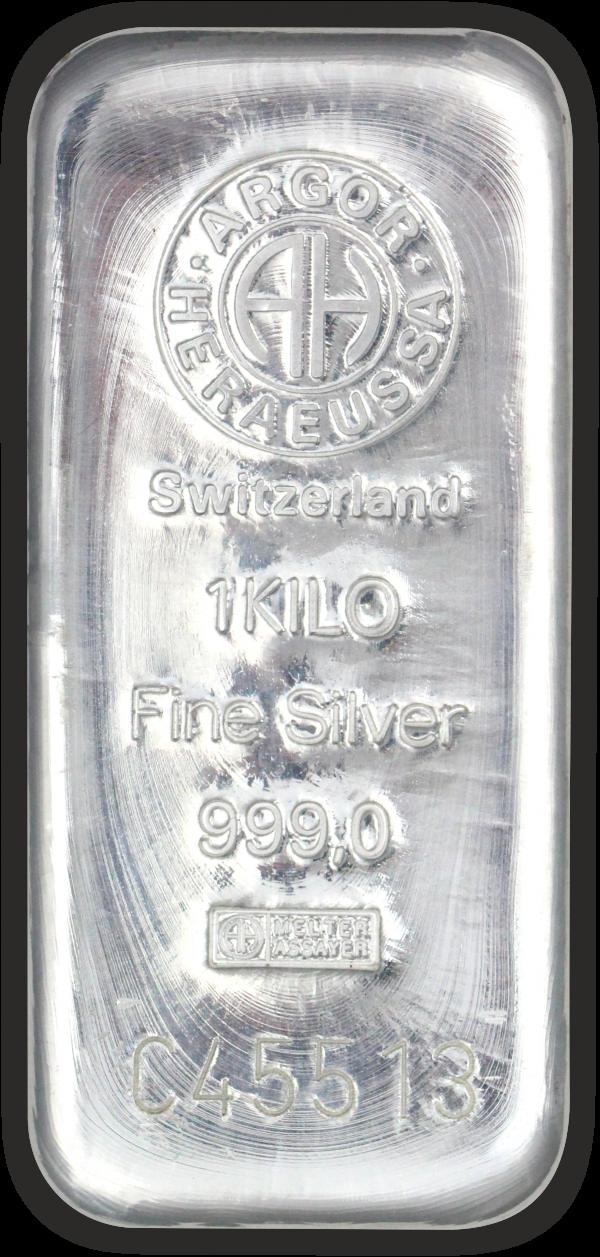 Vitus Guld webshop fysisk investering i sølv Nyproduceret sølvbar med certifikat ægtheds garanti ægte sølv finsølv Argor Heraeus Anerkendt leverandør Schweizisk leverandør af ædelmetaller sikker professionel handel 1 kg 1000 gr.