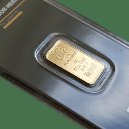 5 gr guldbarre Argor Heareus - Køb guld og sølv fra Vitus Guld - Danmarks Førende guld og sølv forhandler