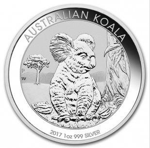 Vitus Guld webshop Sølv koala mønt 2017 Australsk sølvmønt stort udvalg af investerings sølvmønter ægte mønter spændende motive prægning eksklusive nyproducerede sølvmønter Sikker og pofessionel handel