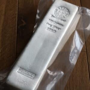 100 oz Sølvbarre fra Argor Heraeus Schweiz