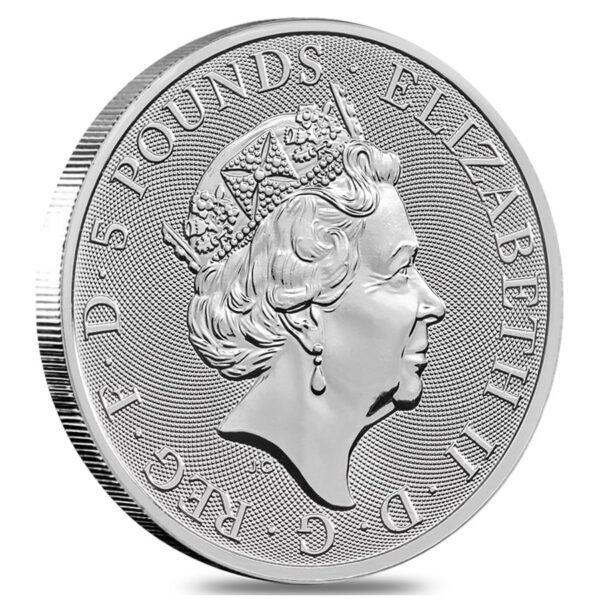 falcon of the plantagenets sølvmønt 2 oz investering hos VItus Guld