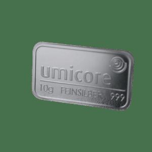 10 gr Sølvbarre fra umicore - Køb din investerings sølvbarre hos Vitus Guld