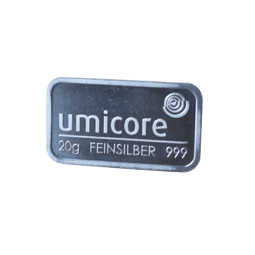 20 gr. sølvbarre Umicore - køb din sølvbarre hos Vitus Guld