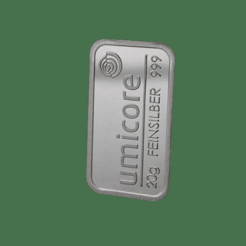 20 gram sølvbarre Umicore - køb din sølvbarre hos Vitus Guld