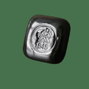 31,1 gr kvadratisk sølvbarre fra Heimerle Meule - Danmarks Førende sølvforhandler Vitus Guld