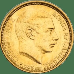Dansk 10 Kroner Guldmønt – Christian X – 900 ‰ 4,48 gr. 21,6 karat