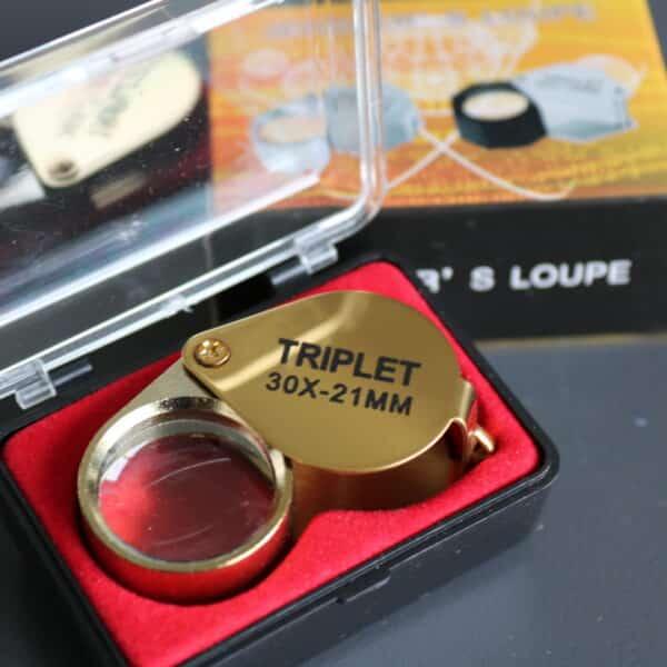Guld Lup hos Vitus Guld - god til smykker og numre i smykker eller til at kigge. Vitus Guld bruger disse luppe selv.