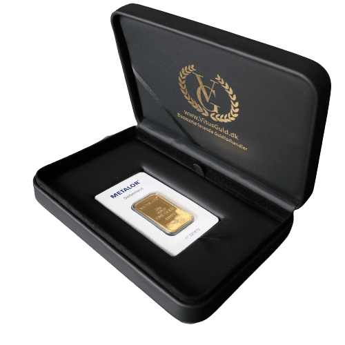Æske til 3 stk guldbarrer - opbevaring designet af guldbarrer Vitus Guld