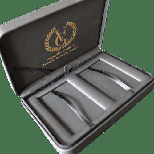 Æske til 3 stk guldbarrer - opbevaring designet af guldbarrer Vitus Guld - Guldbarre Æske