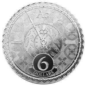 2020 1 oz $6 NZD Tokelau Silver Chronos Coin - Vitus Guld sælger investerings sølvmønter til gode priser