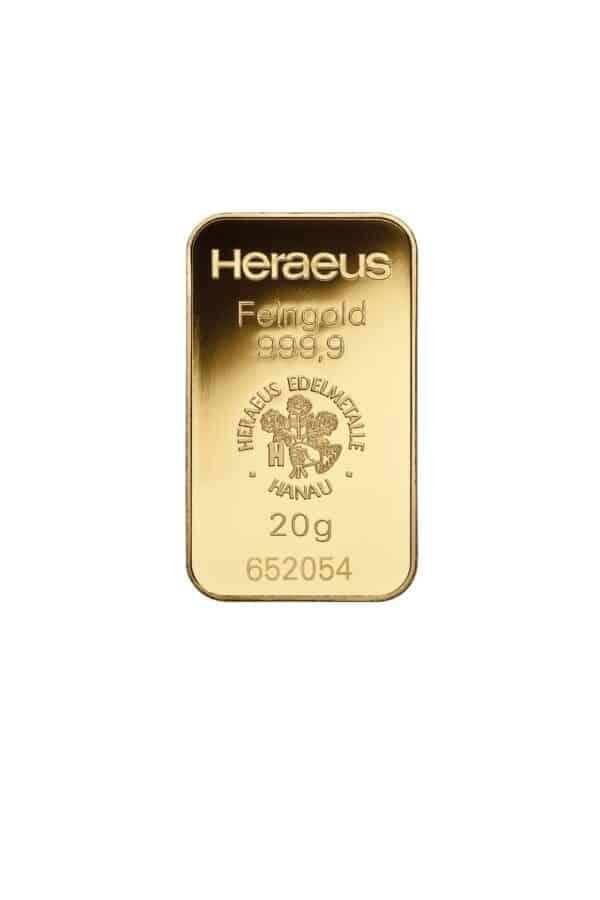 Heraeus Hanau Guldbarrer fra Schweiz - Vitus Guld forhandler investeringsguld til private og erhverv FOTO FROM HERAEUS