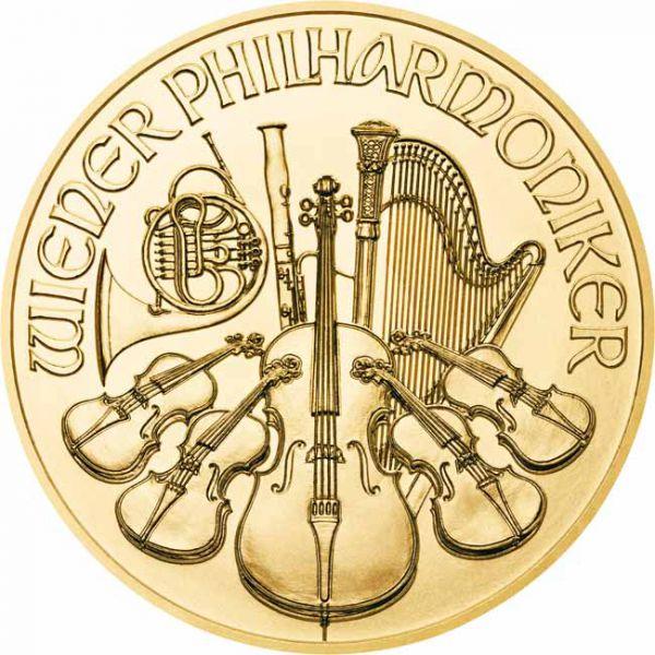 halv oz guldmønt Østrigsk Philharmoniker hos Vitus Guld - Danmarks Førende guldforhandler