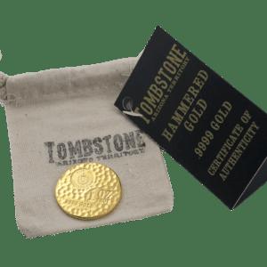 1 oz Hammerslået Tombstone Guldmønt fra Scottsdale Mint Arizona USA - Vitus Guld Danmarks Førende Guldhandler