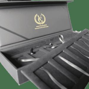 Guldbarre æske til 10 stk. Guldbarrer - Special designet af Vitus Guld - Opbevaring af guldbarrer